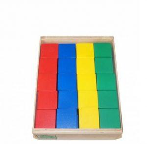 Конструктор детский Строитель Цветные кубики 40 штук КДСн-001
