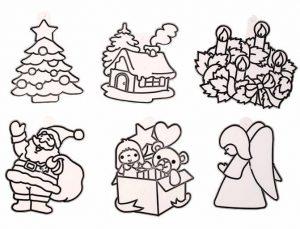 Набор для творчества Amos Витражи мини Дед Мороз елка ангел дом подарок венок 6шт 23871 SDOPP-S8