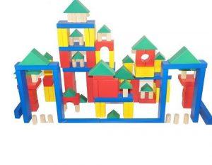 Конструктор детский Строитель настольный 150 элементов краска/лак КДСн-0150