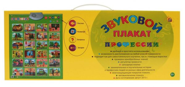 Электронный плакат Рыжий кот Профессии ЗП-0022