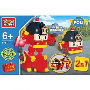 Конструктор Город мастеров 2в1 Робот Пожарная машина 115 дет BB-6767-R