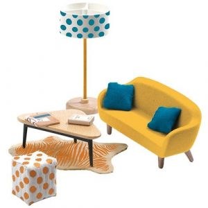 DJECO Мебель для кукольного дома Оранжевая гостиная 07822