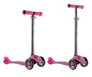 Самокат Y-SCOO RT GLOBBER My free TITANIUM neon pink с блокировкой колес
