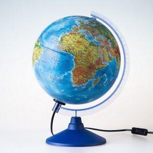 Глобус Земли физико политический Классик Евро 250мм с подсветкой Ke012500191 6+