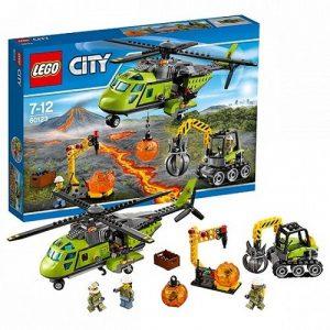 Игрушка Lego City Грузовой вертолет исследователей вулканов 60123