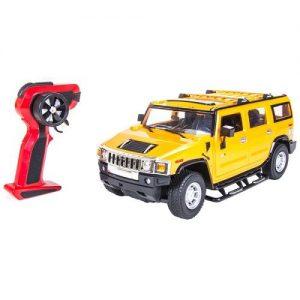 Радиоуправляемая автомодель 1/14 Hummer H2 желтая RC16667