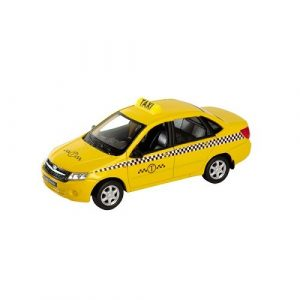 Игрушка модель машины 1:34-39 Lada Granta Такси 43657TI