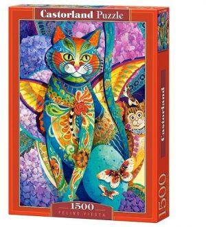 Пазл Castorland Кошачья фиеста 1500 деталей С-151448 3+