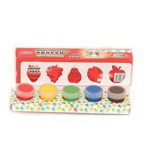 Пальчиковые краски со штампиками ФРУКТЫ 5цв FP-10