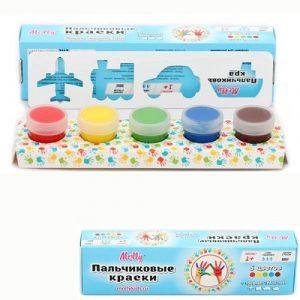 Пальчиковые краски со штампиками ТРАНСПОРТ 5цв FP-13