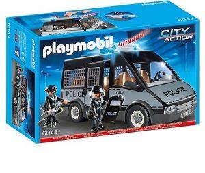 Полиция Бронированный фургон с полицейскими со светом и звуком 6043