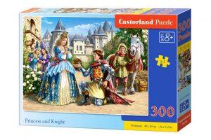 Пазл CastorLand Принцесса и рыцарь 300 деталей B-030040