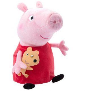 Мягкая игрушка Пеппа с игрушкой 40см 31157