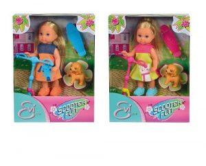 Кукла Еви на скутере + скейт и собачка 5732295