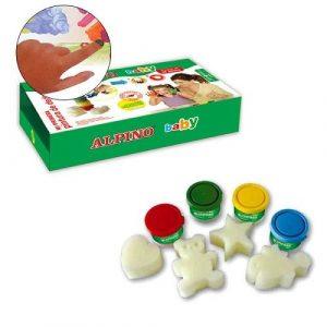 Пальчиковые краски baby в наб 4х40мл 4цв скатерть и штампы DD000060