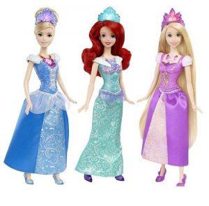 Куклы Принцессы Диснея Рапунцель Бэлль Ариель Ослепительные принцессы в асс BDJ22 BDJ23/24/25