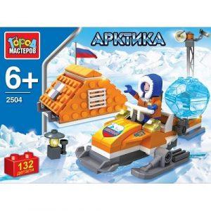 Конструктор Город Мастеров Арктика Полярник на снегоходе 138 дет UU-2504-R