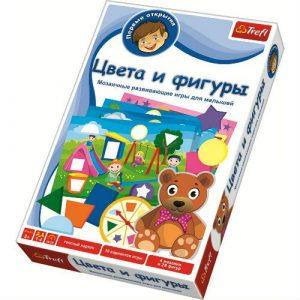 Настольные игры Trefl Цвета и фигуры Мозаичные развивающие игры для малышей 01106 3+