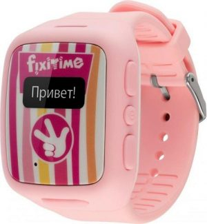 Часы телефон Fixitime розовые FT-101
