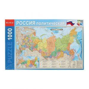 Пазл Карта пазл Россия политическая 45х68 см 1000 деталей 14+