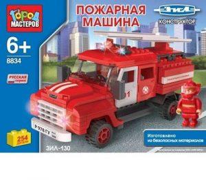 Конструктор Город Мастеров ЗИЛ Пожарная машина с лестницей ВВ-8834-R