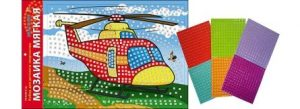 Набор для творчества Рыжий кот Мозаика мягкая Вертолет А3 М-4734 3+