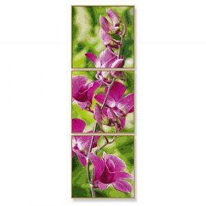 Раскраска 120*40 Триптих Орхидеи 9470739