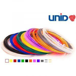 Набор пластика UNID для 3D ручек 10 м 12 цветов в коробке PLA-12