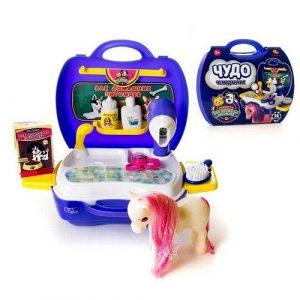 Чудо чемоданчик Набор для ухода за домашним питомцем с лошадкой 16 предметов РТ-00464