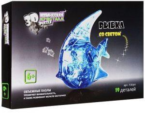 3D пазл Магический кристалл Рыбка с подсветкой 19 деталей YJ6911 6+