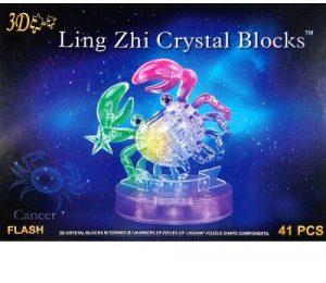 3D пазл Знаки зодиака Рак с подсветкой 41 деталь 9048А