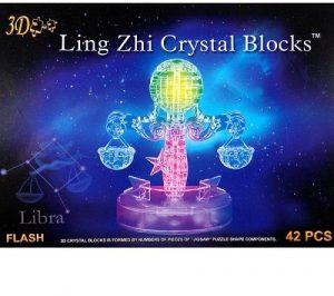 3D пазл Знаки зодиака Весы с подсветкой 42 детали 9045А