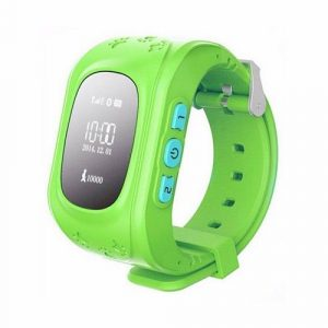 GPS часы Q50 летние зеленые 00003