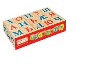 Кубики Алфавит 15 шт И669