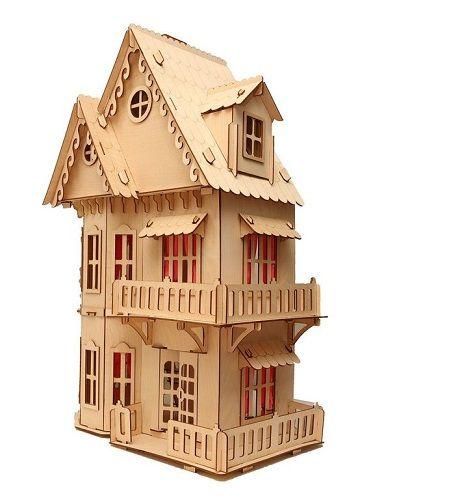 Дом для куклы дерево Кукольный домик Д-001