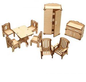 Мебель для куклы дерево Гостиная М-005