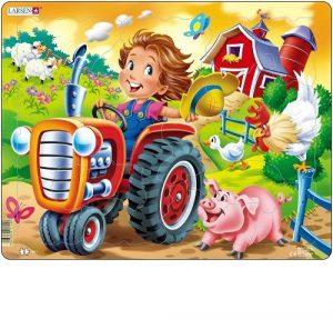 LARSEN BM7 Дети на ферме Трактор 86277