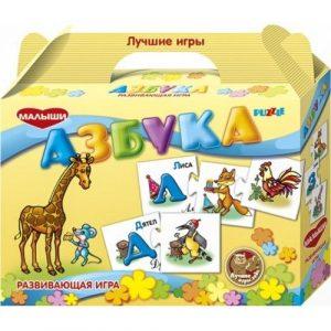 Детская настольная игра пазл развивающий Азбука PL1701H
