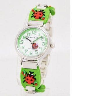 Часы наручные Тик-Так зеленые вишни Н108-3