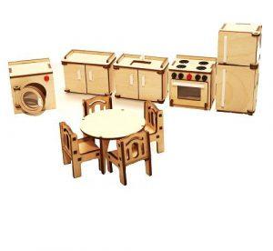 Мебель для куклы Кухня М-003