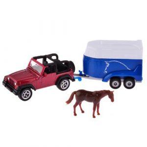 SIKU Джип с тройлером для перевозки лошадей 1651