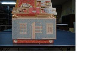 Набор для интерьера кукольного домика Обои и ламинат голубой 59505-2