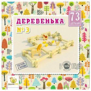Конструктор Дерево Кря Деревенька №3 73 дет dk-009