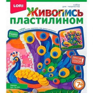 Живопись пластилином LORI Павлин Пк-041