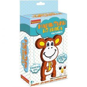 Набор для творчества BONDIBON Магнитик из гипса обезьянка ВВ2009
