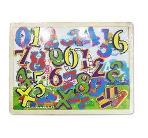 Деревянная игрушка Фабрика Фантазий Доска магнитная с пазлами 30х22