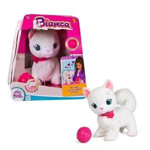 Интерактивная игрушка IMC Toys Кошка Bianca интерактивная в комплекте с клубком 5 команд 95847