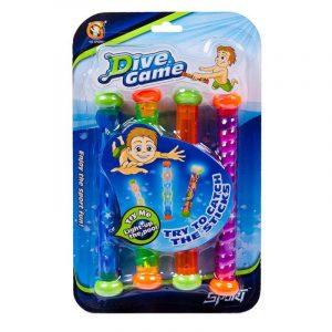 Игры с водой YG Sport Набор из 4х светящихся водонепроницаемых палочек YG27S