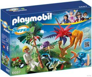 Игровой набор PLAYMOBIL Супер 4 Затерянный остров с Алиен и Хищником 6687pm