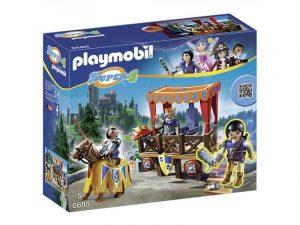 Игровой набор PLAYMOBIL Супер 4 Королевская трибуна с Алексом 6695pm